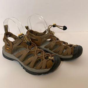 Women's KEEN Whisper hiking waterproof sandal 6.5